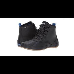 Keds duck rain boots booties black size 9 NWOB